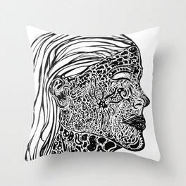 Emerging Face Throw Pillow