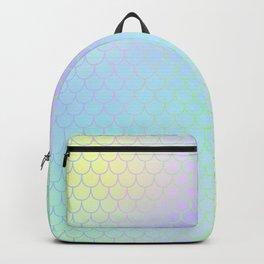 Aqua Green Mermaid Tail Abstraction Backpack