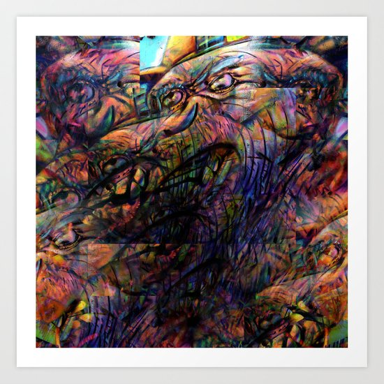 """""""And gaze for hours on the muscle, skin and bone."""" Art Print"""