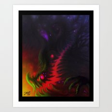 nightmare mouth Art Print