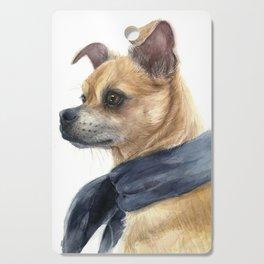 Chug Chihuahua Pug Mix Portrait Cutting Board