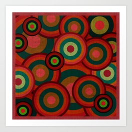 """Retro Colorful Circles"" Art Print"