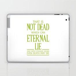 WITH STRANGE AEONS EVEN DEATH MAY DIE Laptop & iPad Skin