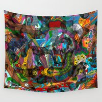 shiva Wall Tapestries featuring Every thought can change the day when let out in joyful play by Donuts