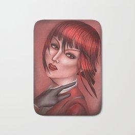 Madame in Red Bath Mat