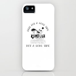 Funny Alcohol Beer Costume Halloween iPhone Case