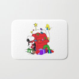 Snoopy Christmas Gift Bath Mat