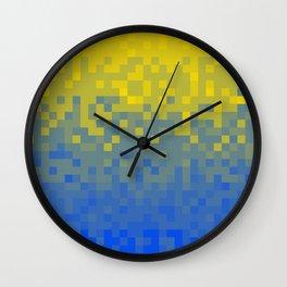 Pixel colour Wall Clock