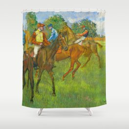 Before the Race - By Edgar Degas Shower Curtain