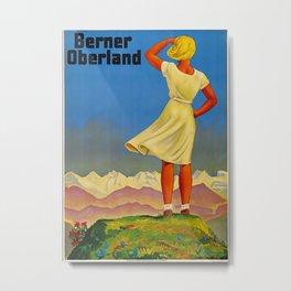 Berner Oberland Travel Poster Metal Print