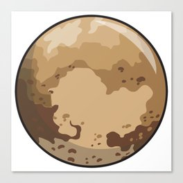 Pluto Icon Canvas Print