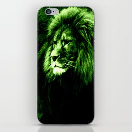 Green LION iPhone Skin