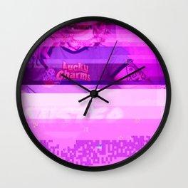 FUcked up glitch stuff Wall Clock