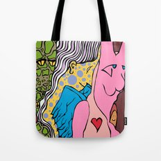LIZARD LADY and HER MERRY BAND of MISFITS Tote Bag