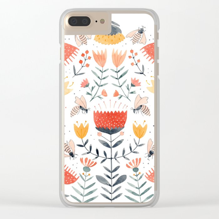 Bee Well Clear iPhone Case