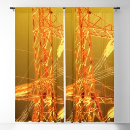 Energy in Gold Blackout Curtain