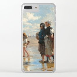 Setting Out to Fish Oil Painting by John Singer Sargent Clear iPhone Case