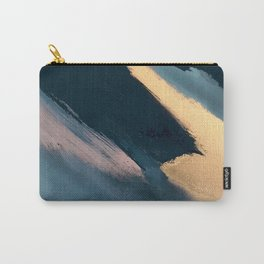 Ignite: colorful abstract in blue pink and gold Carry-All Pouch