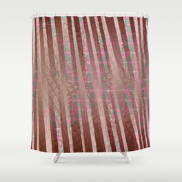 Flowers and lines S12 Shower Curtain