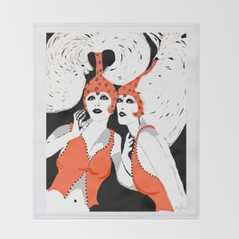 Woman Flappers Throw Blanket
