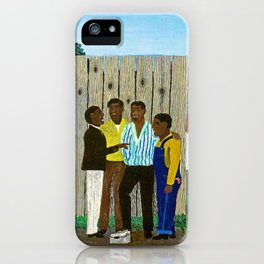 1944 American American Masterpiece 'Harmonizing' by Horace Pippin iPhone Case