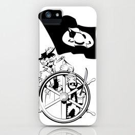 Cap'n at the helm iPhone Case