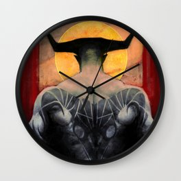 Aries Iron Bull zodiac tarot card dragon age inquisition Wall Clock