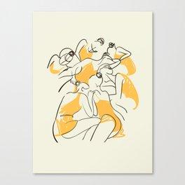 The Ballerinas-Minimal Line Drawing Canvas Print