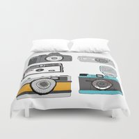cameras Duvet Covers featuring Cameras by Josh Ross