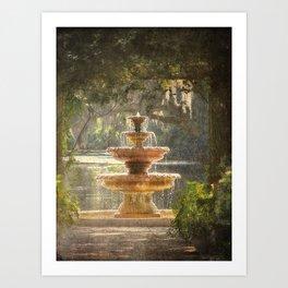 Fountain at the Pergola Art Print