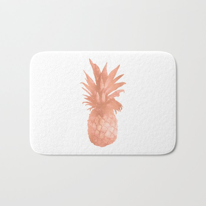 Pineapple Rose Gold Bath Mat