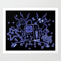 bmo Art Prints featuring BMO by Daniel Delgado