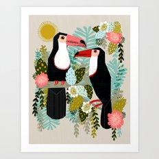 Toucans by Andrea Lauren  Art Print