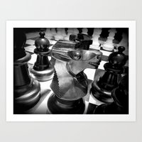 chess Art Prints featuring Chess by MartaJ