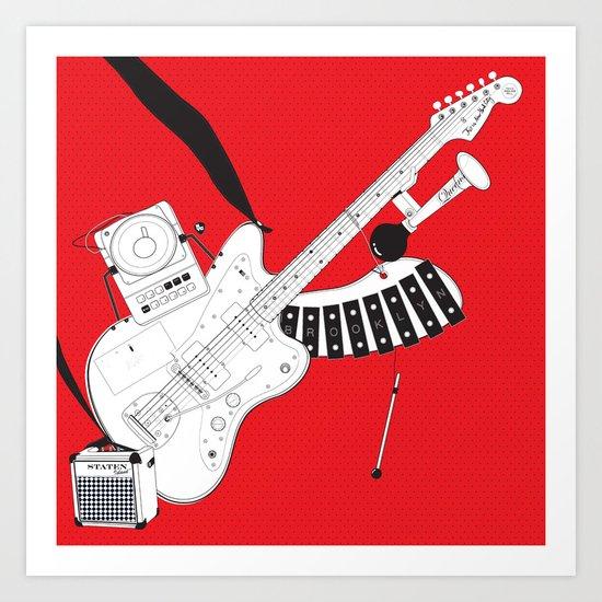 One-Man Band Art Print