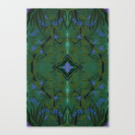 Branch and Bluebell Canvas Print