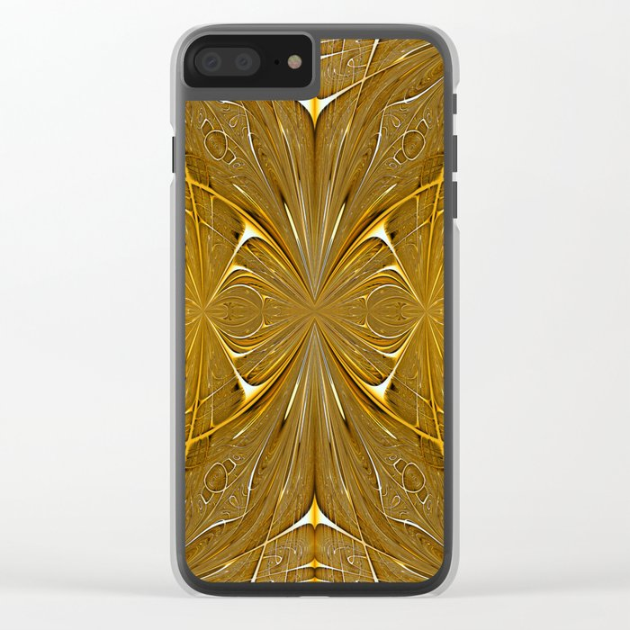 Gold ornament Clear iPhone Case