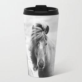 Horse Photograph in Iceland Travel Mug