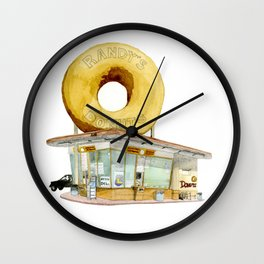 Randy's Donuts Wall Clock