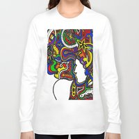 techno Long Sleeve T-shirts featuring Rainbow Techno by Madison R. Leavelle