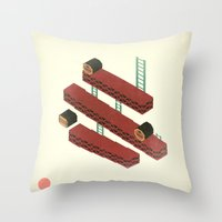 nintendo Throw Pillows featuring Nintendo #3 by Dabwood2