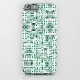 Emerald art deco doodle iPhone Case