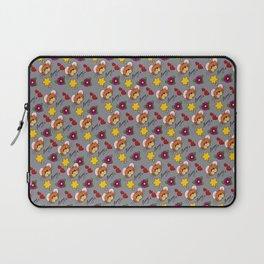 Hammy Pattern in Light Grey Laptop Sleeve