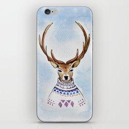 Deer in sweater iPhone Skin