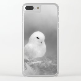 Owl In The Moonlight Clear iPhone Case