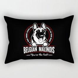 BELGIAN MALINOIS THE BEST FRIEND Rectangular Pillow
