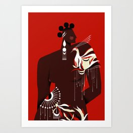 AZIZA Art Print