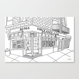 The Spots: Three Lives & Company Bookstore Canvas Print
