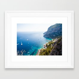 Capri, bay of Naples, Italy Framed Art Print