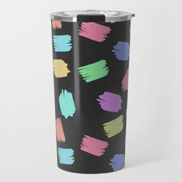 Colorful Brush Strokes - Blue Green Pink Purple Travel Mug